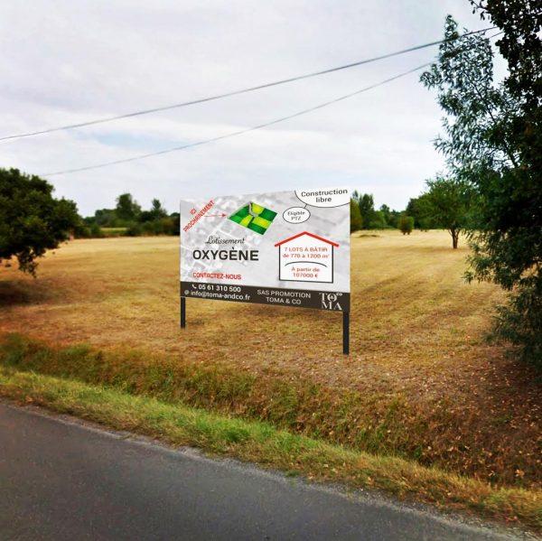 Panneau publicitaire immobilier à Blagnac, Toulouse, Haute-Garonne et Occitanie