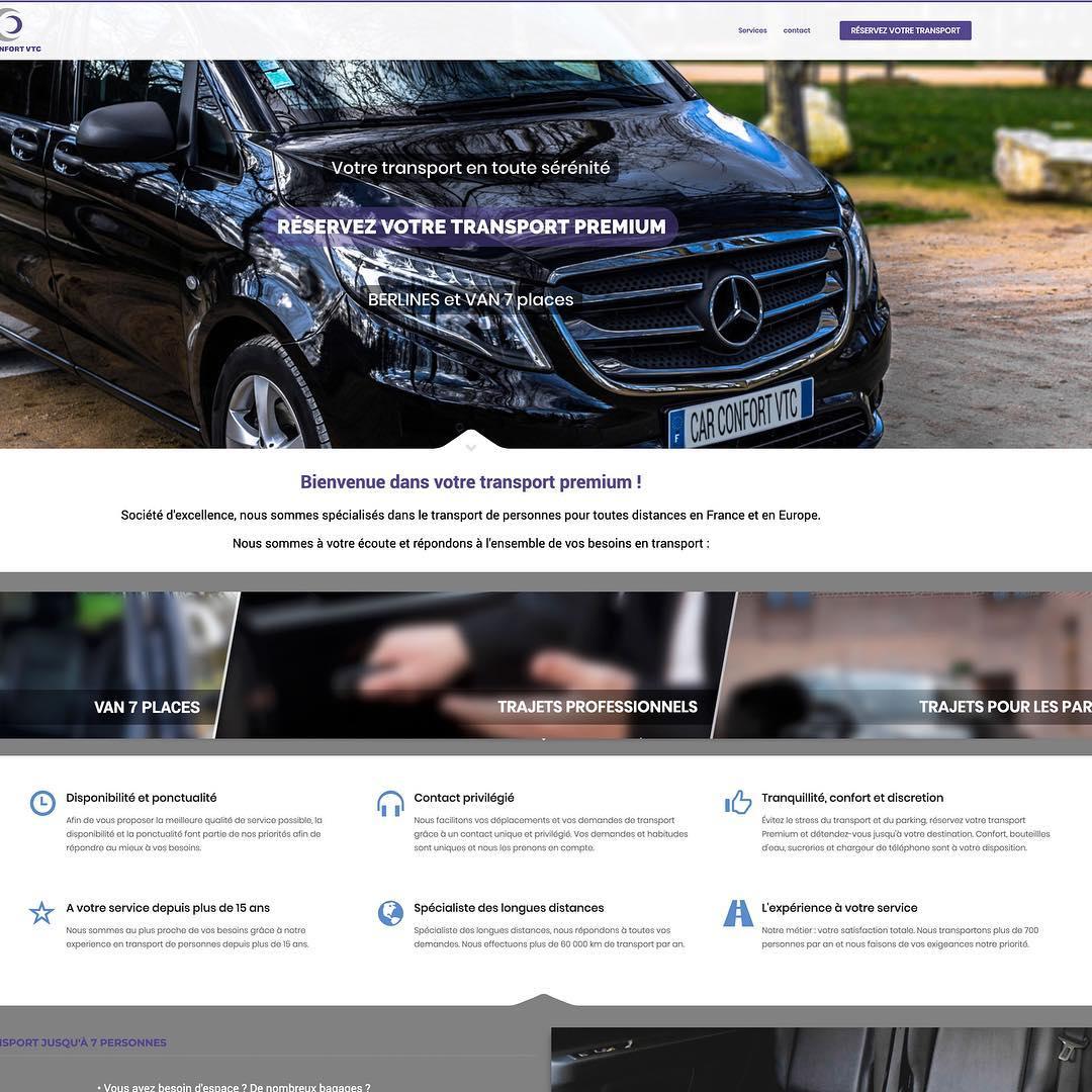 Site WEB pour VTC à Blagnac, Toulouse, Haute Garonne et Occitanie.