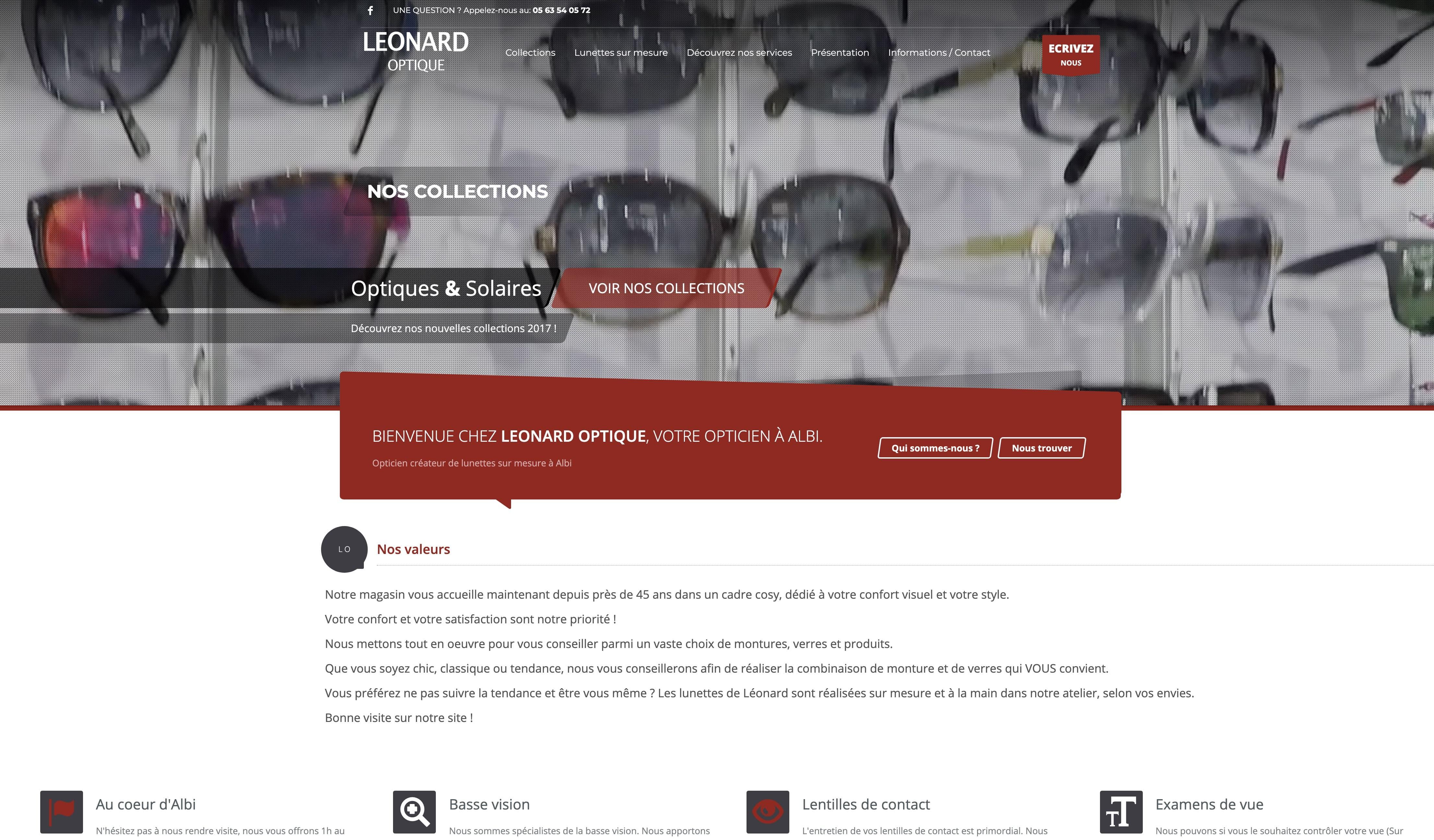 Création site WEB Opticien à Blagnac, Toulouse, Haute-Garonne, Occitanie.