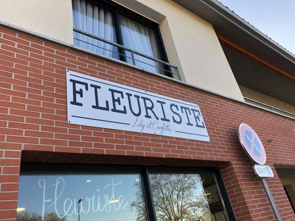 Enseigne Fleuriste - Panneau en aluminium imprimé et pelliculé - Toulouse - Blagnac