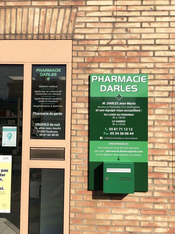 Panneau publicitaire de Pharmacie - Toulouse - Blagnac